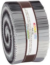 Jelly Roll 2-1/2in Strips Kona Cotton Stormy Skies Palette, 40pcs/bundle- Robert Kaufman Cotton