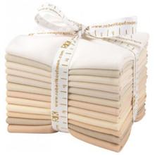 Fat Quarter Bundle Kona Cotton Not Quiet White 12pcs