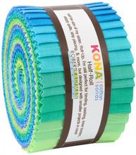 2-1/2in Strips Kona Cotton Mermaid Shores Palette, 24pcs/bundle - Robert Kaufman Cotton