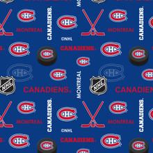 NHL Montreal Canadiens Flannel - 1/2 yard