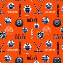 NHL Edmonton Oilers Flannel - 1/2 yard