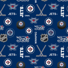 NHL Winnipeg Jets Flannel - 1/2 yard