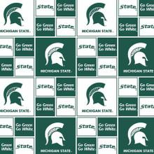 Green/White Michigan State - Sykel Enterprises - 1/2 yard ( MIST-020)