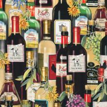 Wine Bottles - Robert Kaufman Cotton - 1/2 yard (AMKD19799280)