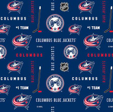 NHL Columbus Blue Jackets Allover - Sykel Enterprises - 1/2 yard (169cbj