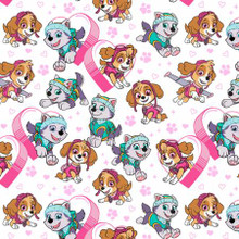 White Paw Patrol - David Textiles Flannel - 1/2 yard (PW43510F2)