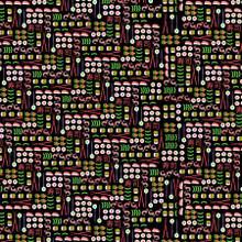 Black I Love Sushi - Michael Miller Cotton - 1/2 yard (CX9469-BLAC)