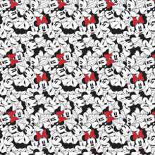 White Stacked Disney Minnie Mouse - Camelot Fabrics Cotton - 1/2 yard (85271010-1)