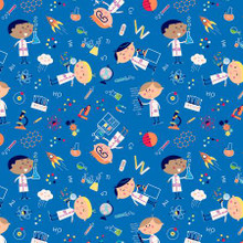 Blue Science Boys - Michael Miller Cotton - 1/2 yard (DC9716-BLIUE)