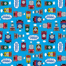 Thomas & Friends Friends Blue - Riley Blake Cotton - 1/2 yard (C11001R-BLUE)