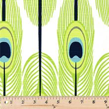 Premier Prints Feathers Canal Slub Fabric - 1/2 yard (featherscansl)