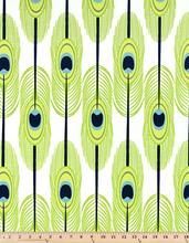 Premier Prints Feathers Canal Slub Fabric - 1/2 yard