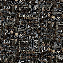 Black I Love My Dog Text - Timeless Treasures Cotton - 1/2 yard (C8554-BLK) Your image was added to the product.