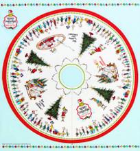 """Tree Skirt Panel Grinch Dr. Seuss 45"""" x 44"""" - Robert Kaufman Cotton (ADE-20277-223)"""