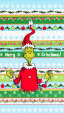 "Large Grinch Panel Dr Seuss 24"" x 44"" - Robert Kaufman Cotton (ADE-20274-223)"
