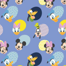 Periwinkle Disney Mickey Mouse Hellow Memphis - Camelot Fabrics Cotton - 1/2 yard (85271018-2)