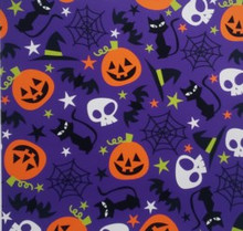 Halloween on Purple - Quilters Choice Cotton - 1/2 yard