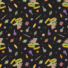Black Halloween Star Wars Gimme Candy - Camelot Cotton - 1/2 yard (73800270-2)
