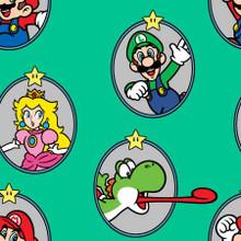 Nintendo Super Mario Badge - Springs Creative - 1/2 yard