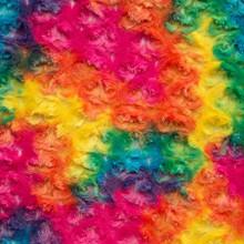 Vibrant Rainbow Minky Rose - Shannon Fabrics Cuddle Minky (rosevibrant)