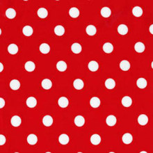 Red with White That's It Dots - Michael Miller Cotton
