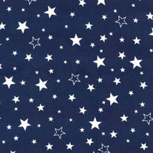 White Stars on Navy - Robert Kaufman Flannel - 1/2 yard