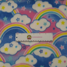 Multi Rainbows Anti-Pill Fleece - 1/2 yard