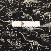 Dinosaurs Fossil Glow in the Dark on Black - Timeless Treasures Cotton (CG5797-BLK)