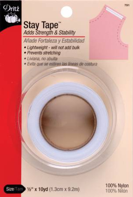"""White Stay Tape - 1/2"""" (10 yards)"""