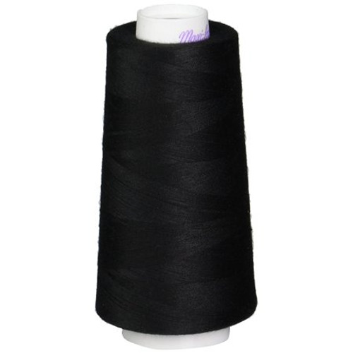 Black Maxi-Lock Polyester Serger Thread 50wt - 3000yds