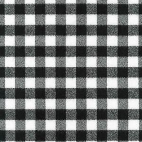 Small Mammoth Black/White Plaid  - Robert Kaufman Flannel - 1/2 yard