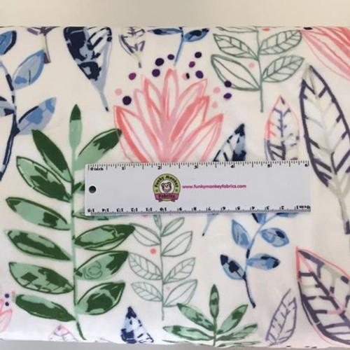 Modern Leaf Blossom Digital - Shannon Fabrics Minky