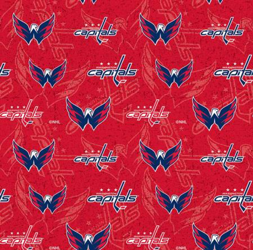 NHL Washington Capitals Cotton - Sykel Enterprises - 1/2 yard (1199cap)