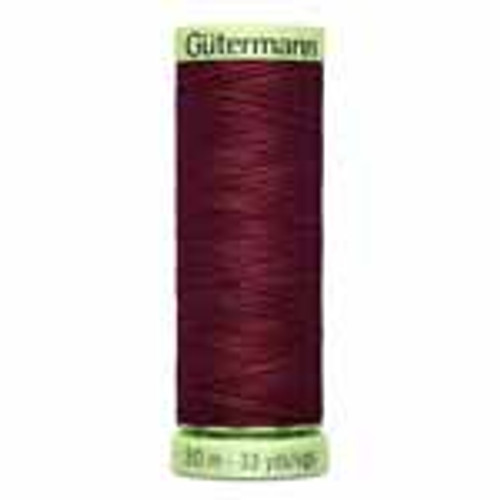 Burgundy #450 Polyester Top Stitching - 30m