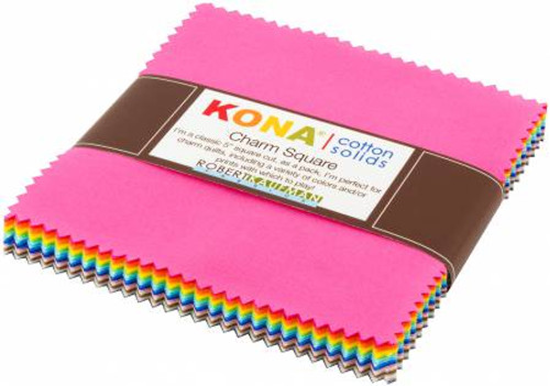 """5"""" Squares - Kona Solids 2017 Colors - 42 Pieces- Robert Kaufman Cotton (CHS-671-42)"""