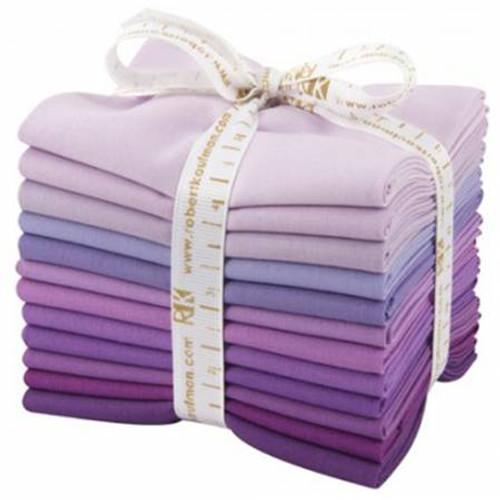 Fat Quarter Bundle - Kona Cotton Lavender Fields - 12 pieces - Robert Kaufman Cotton (FQ-918-12)
