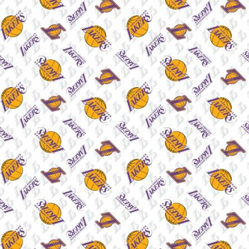 Los Angeles Lakers NBA  - Camelot Cotton - 1/2 yard