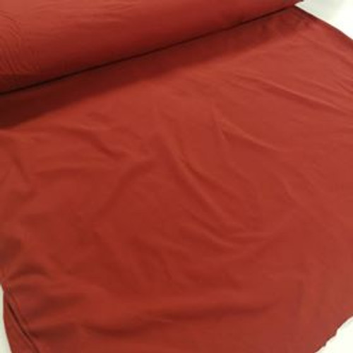 Dark Rust Double Brushed Polyester Knit