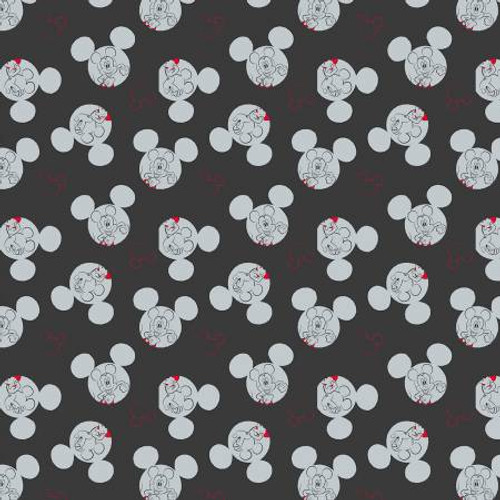Disney Mickey Mouse Badge Toss Fleece - 1/2 yard