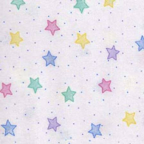 Pastel Stars - AE Nathan Flannel  (3128X-124)