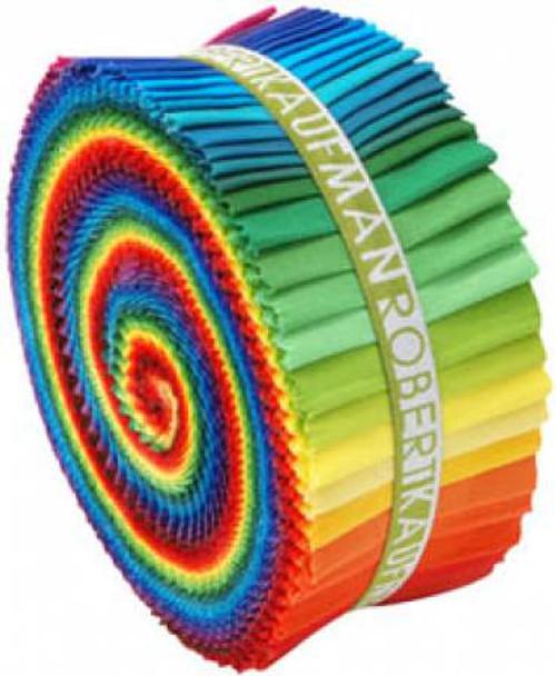 Jelly Roll - Classic Kona Solids - 41 pieces - Robert Kaufman Cotton (RU-228-41)