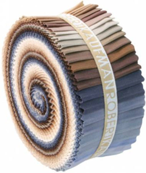 Jelly Roll - Neutral Kona Solids - 41 pieces - Robert Kaufman Cotton (RU-233-41)