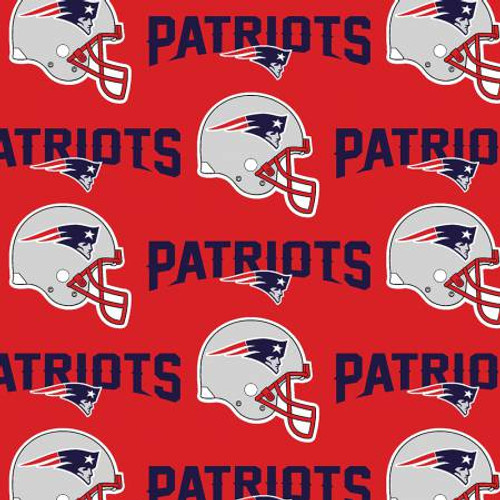 "NFL Red New England Patriots 60"" Wide Cotton  (6467-D)"