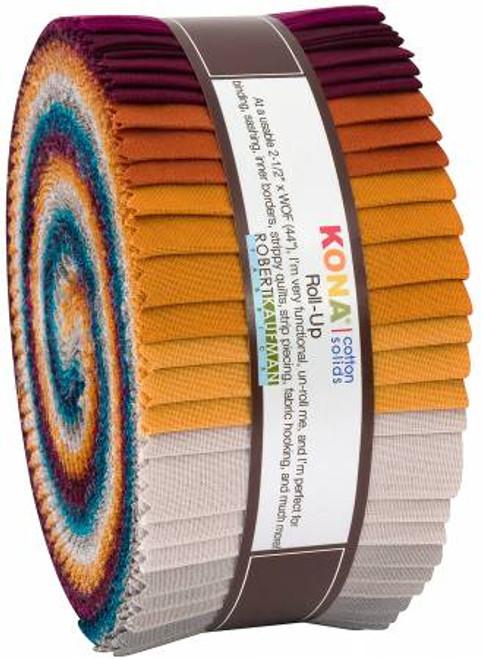 Jelly Roll - Tuscan Skies Kona Solids - 40 pieces - Robert Kaufman Cotton (RU-785-40)