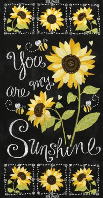 "You Are My Sunshne Panel 23"" x 44"" - Timeless Treasures Cotton"