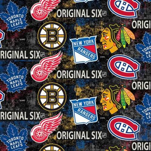 NHL Original Six Tossed Logo - Sykel Enterprises  (1224-ORG6)