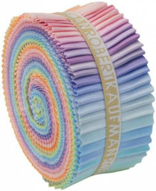 Jelly Roll - Pastel Palette Kona Solids - 40 pieces - Robert Kaufman Cotton (RU-230-41)