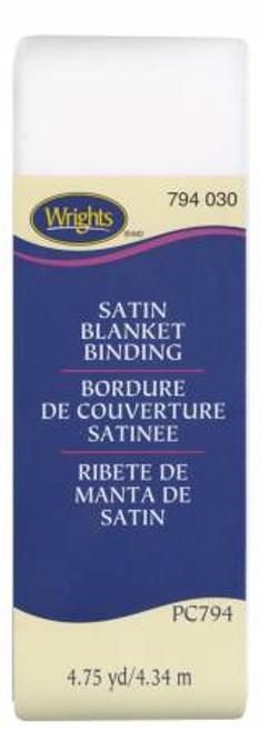 White Satin Blanket Binding (117794030)