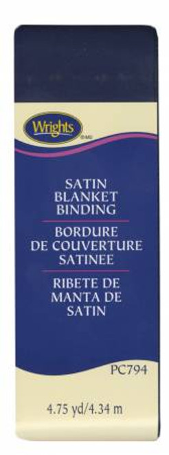 Navy Satin Blanket Binding (117794055)
