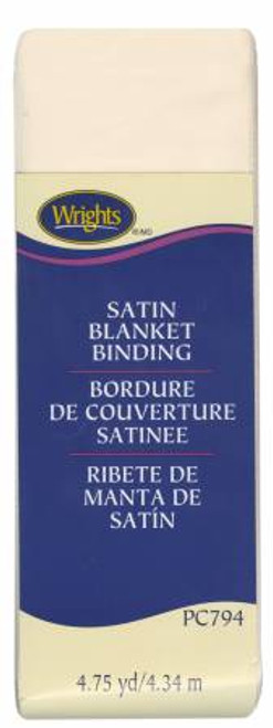 Ivory Satin Blanket Binding (117794810)